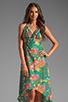 Image 1 of Nanette Lepore Kimono Floral Maxi Cover in Jade