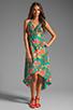Image 2 of Nanette Lepore Kimono Floral Maxi Cover in Jade