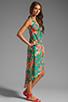 Image 3 of Nanette Lepore Kimono Floral Maxi Cover in Jade