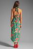 Image 4 of Nanette Lepore Kimono Floral Maxi Cover in Jade