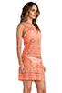 Image 2 of Nanette Lepore Cosmic Crochet Tank Dress Cover Up in Flamingo