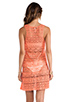Image 3 of Nanette Lepore Cosmic Crochet Tank Dress Cover Up in Flamingo