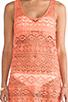 Image 5 of Nanette Lepore Cosmic Crochet Tank Dress Cover Up in Flamingo