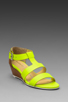 Image 1 of Nanette Lepore Absolute Wonder Wedge in Neon Yellow