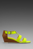 Image 2 of Nanette Lepore Absolute Wonder Wedge in Neon Yellow