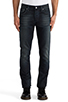 Image 1 of Nudie Jeans Grim Tim in Org. Black Indigo