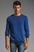 Image 1 of Nudie Jeans Herald Raglan Sweatshirt in Deep Ocean