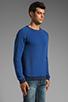 Image 2 of Nudie Jeans Herald Raglan Sweatshirt in Deep Ocean