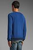 Image 3 of Nudie Jeans Herald Raglan Sweatshirt in Deep Ocean