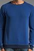 Image 4 of Nudie Jeans Herald Raglan Sweatshirt in Deep Ocean