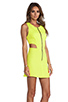 Image 3 of Naven Retro Cutout Dress in Chartreuse