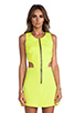 Image 5 of Naven Retro Cutout Dress in Chartreuse