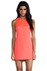 Image 1 of Naven Sporty Twiggy Dress in Neon Salmon/Pop Pink