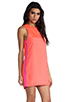 Image 3 of Naven Sporty Twiggy Dress in Neon Salmon/Pop Pink