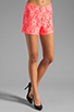 Image 1 of Naven Hot Shorts in Neon Salmon Lace
