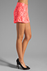 Image 2 of Naven Hot Shorts in Neon Salmon Lace