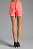 Image 3 of Naven Hot Shorts in Neon Salmon Lace