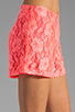 Image 5 of Naven Hot Shorts in Neon Salmon Lace