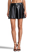 Image 1 of Naven Biker Skirt in Black Faux Leather