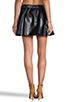Image 4 of Naven Biker Skirt in Black Faux Leather