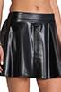 Image 6 of Naven Biker Skirt in Black Faux Leather
