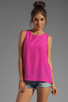 Image 1 of Naven Long Muscle Tank in Pop Pink