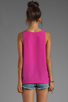 Image 2 of Naven Long Muscle Tank in Pop Pink
