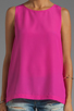 Image 3 of Naven Long Muscle Tank in Pop Pink
