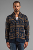 Image 1 of Obey Anchors Heavyweight Cardigan in Dark Navy