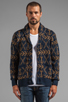 Image 2 of Obey Anchors Heavyweight Cardigan in Dark Navy