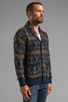 Image 3 of Obey Anchors Heavyweight Cardigan in Dark Navy