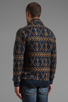 Image 4 of Obey Anchors Heavyweight Cardigan in Dark Navy