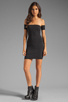 Image 2 of One Teaspoon Holster Off Shoulder Body Con Dress in Black