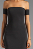 Image 5 of One Teaspoon Holster Off Shoulder Body Con Dress in Black