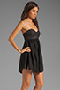 Image 3 of One Teaspoon Nickels and Dimes Sequin Bustier Mini Dress in Black