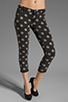 Image 1 of One Teaspoon Polka Iggys Low Waist Polka Dot Stretch Denim Skinny in Smoke