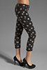 Image 2 of One Teaspoon Polka Iggys Low Waist Polka Dot Stretch Denim Skinny in Smoke