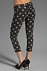 Image 3 of One Teaspoon Polka Iggys Low Waist Polka Dot Stretch Denim Skinny in Smoke
