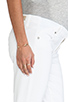 Image 5 of Paige Denim Skyline Ankle Peg Maternity in Optic White