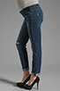 Image 2 of Paige Denim Jimmy Jimmy Skinny Maternity in Tawni Destruction
