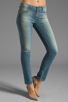 Image 1 of Paige Denim Skyline Ankle Peg in Monet