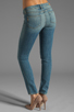Image 3 of Paige Denim Skyline Ankle Peg in Monet