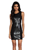 Image 1 of PJK Patterson J. Kincaid Pipper Dress in Metallic Black