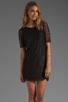 Image 1 of PJK Patterson J. Kincaid Nicole Lace Shift Dress in Black