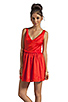 Image 1 of Patterson J. Kincaid x the man repeller Kramer Dress in Fiery Red