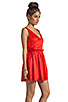 Image 2 of Patterson J. Kincaid x the man repeller Kramer Dress in Fiery Red
