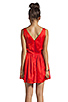 Image 3 of Patterson J. Kincaid x the man repeller Kramer Dress in Fiery Red