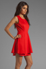 Image 3 of Patterson J. Kincaid Savannah Dress in Orange