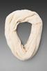 Image 1 of Paula Bianco Infinity Scarf in Cream