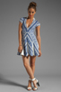 Image 2 of Pencey Deep V Dress in Blue